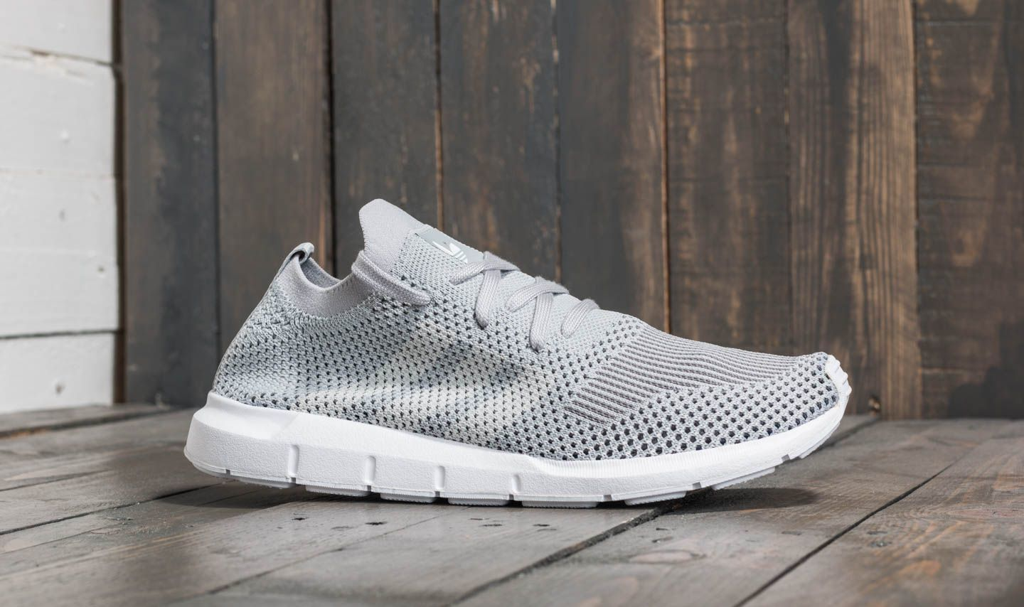 new style 99f78 296f2 adidas Swift Run Primeknit W Grey Two  Ftw White  Grey Four at a great