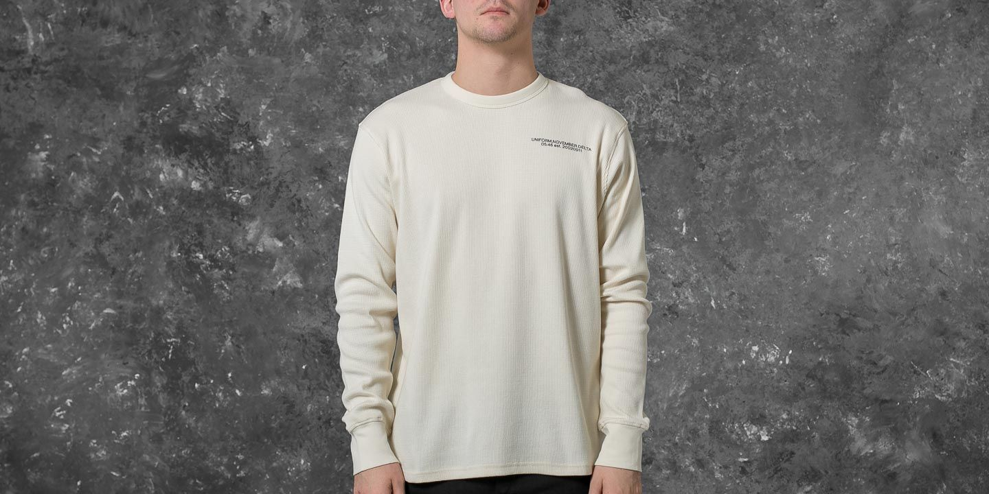 Undefeated Thermal Crew Neck Off White