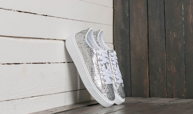 Puma Basket Platform Glitter Wn's Silver-Silver za skvělou cenu 3 290 Kč koupíte na Footshop.cz