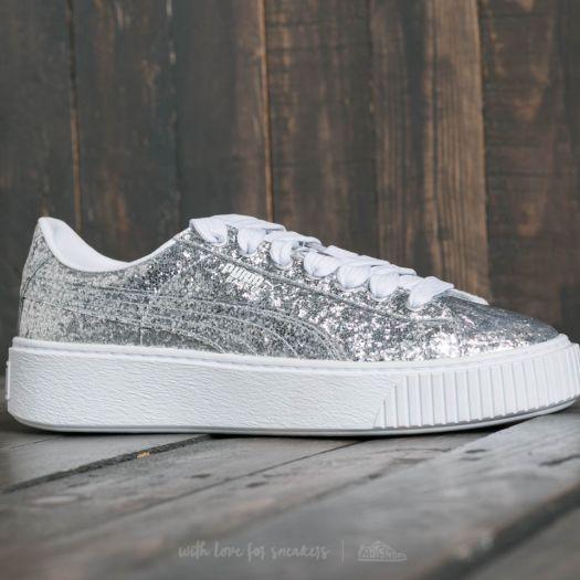 shoes Puma Basket Platform Glitter