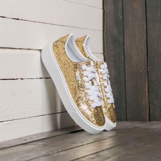 PUMA Damen Basket Platformglitter Sneaker: : Schuhe