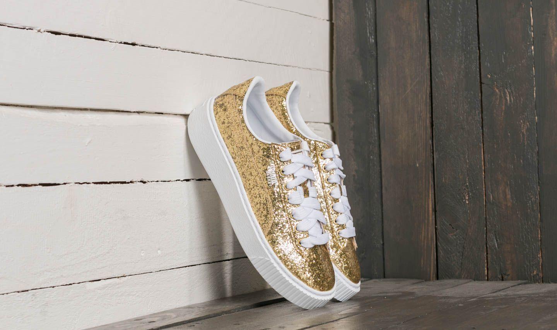 Puma Basket Platform Glitter Wn's Gold-Gold za skvělou cenu 2 390 Kč koupíte na Footshop.cz