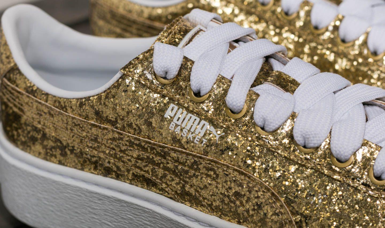 Puma Basket Platform Glitter Wn's Ktipxuoz Goldfootshop ZiukPX