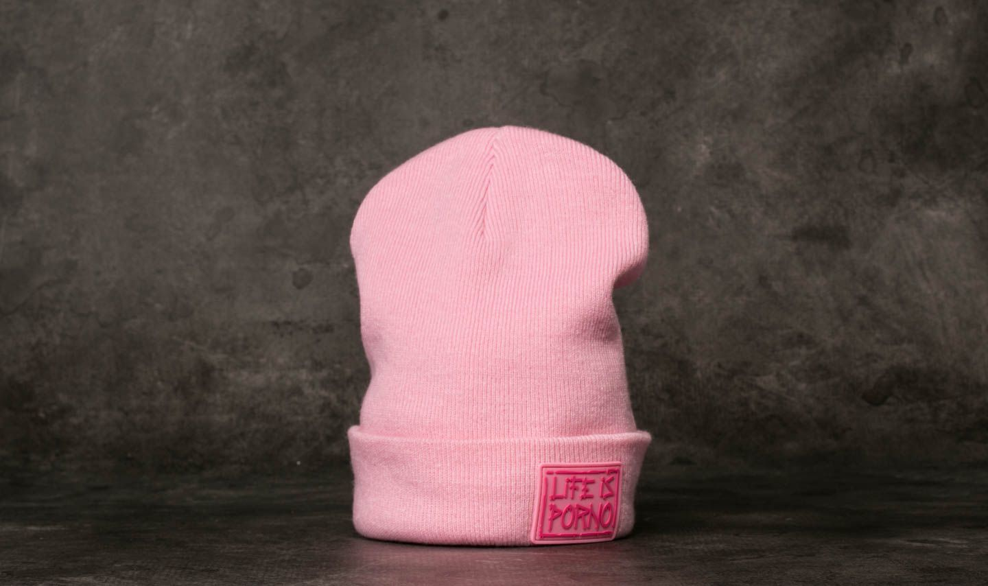 Life is Porno Taxi Beanie Pink