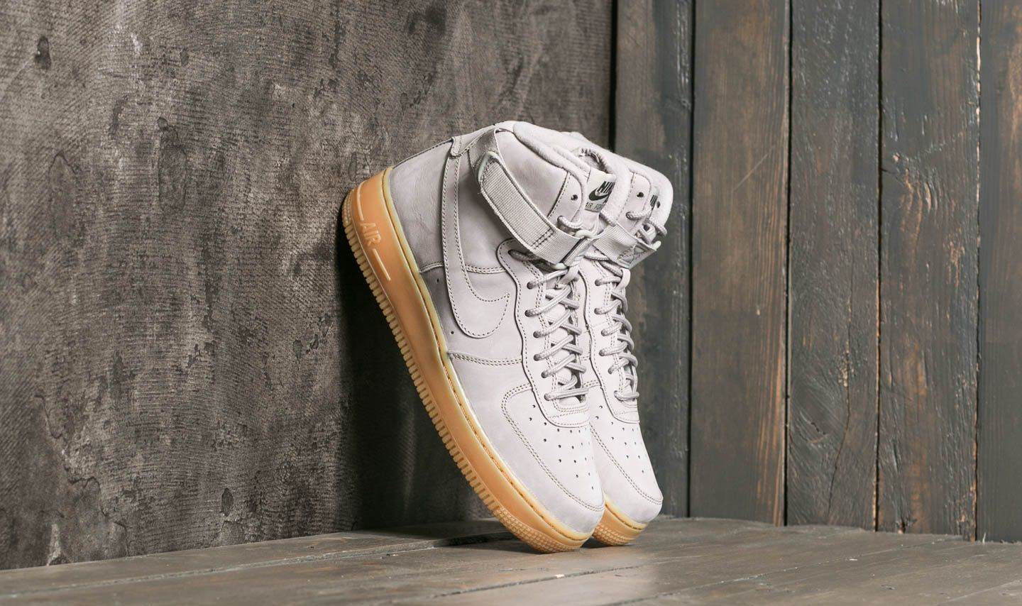 huge discount 487d7 a6541 Nike Air Force 1 High WB (GS) Medium Grey Medium Grey-Black