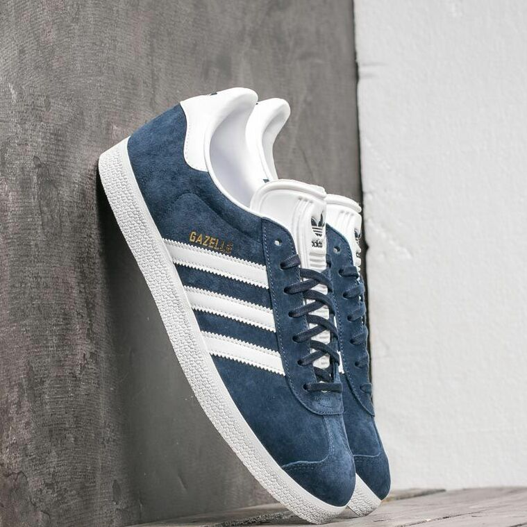 adidas Gazelle Core Navy/ White/ Gold Metalic EUR 46