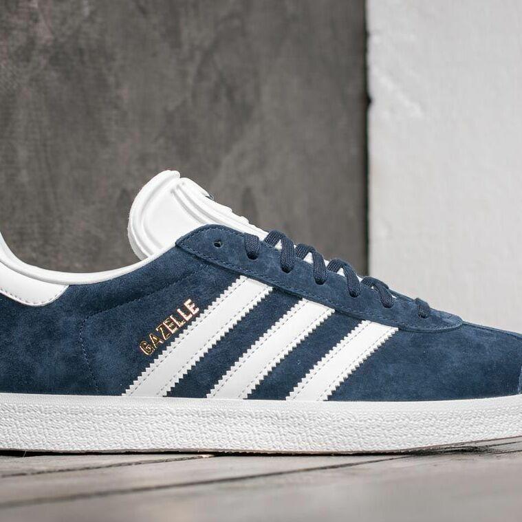 adidas Gazelle Core Navy/ White/ Gold Metalic, Blue
