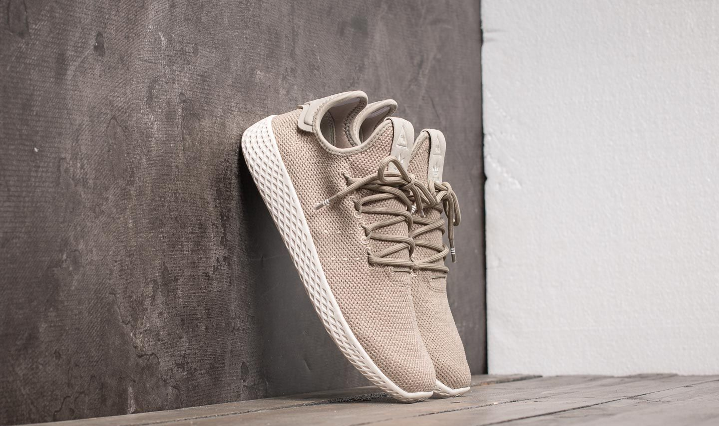 promo code size 40 san francisco adidas Pharrell Williams Tennis HU J Tech Beige/ Tech Beige ...