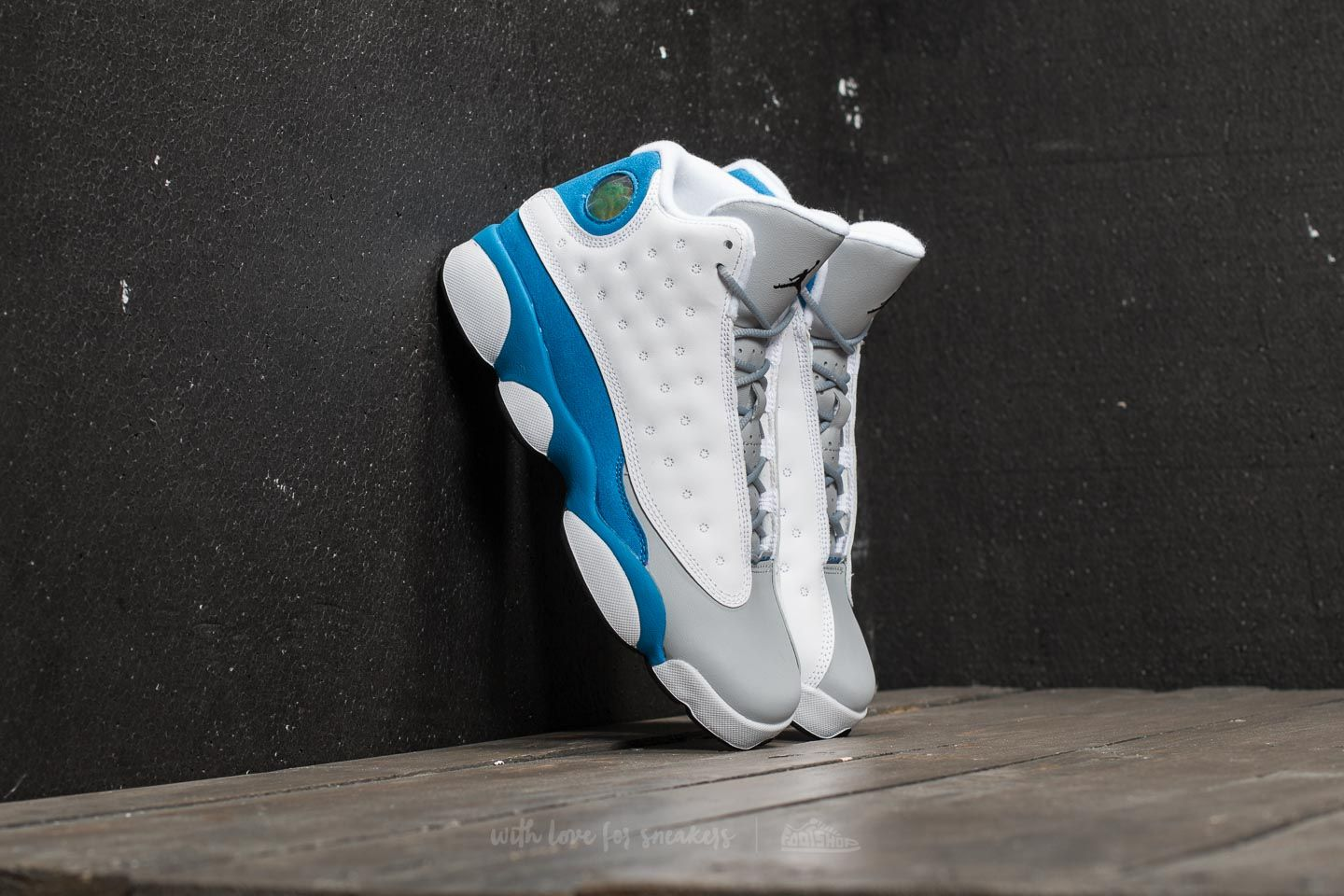 the latest 3dfc3 1e304 Air Jordan Retro 13 GG White/ Italy Blue/ Wolf Grey | Footshop