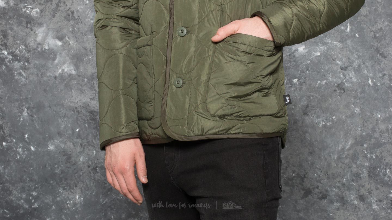 Stüssy Quilted Military Jacket Olive | Footshop