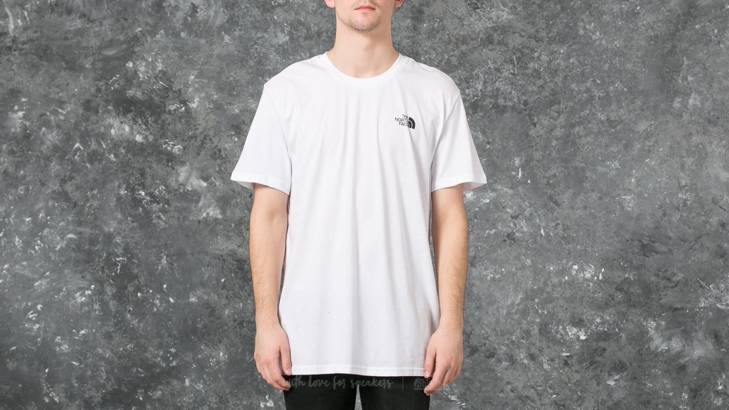ba30b9371 The North Face M Short Sleeve Simple Dome Tee White | Footshop