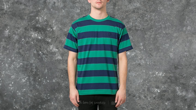 Polar 91' Stripe Tee Green/ Navy