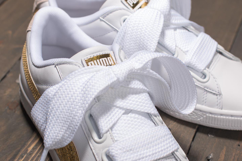 Puma Wn's Basket GoldFootshop White Heart Glitter BxCEQWrdoe