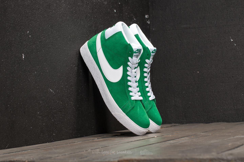 1eb2cfa3d42078 Nike SB Zoom Blazer Mid Pine Green  White
