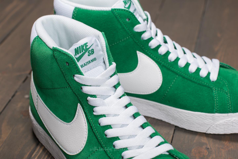 sports shoes 8562d 1ddfa Nike SB Zoom Blazer Mid Pine Green/ White   Footshop