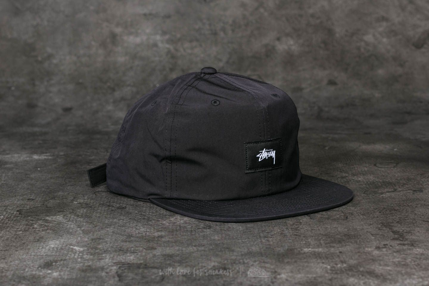 Stüssy Stock Label Strapback Cap Black at a great price 46 € buy at Footshop 6048445ca8d