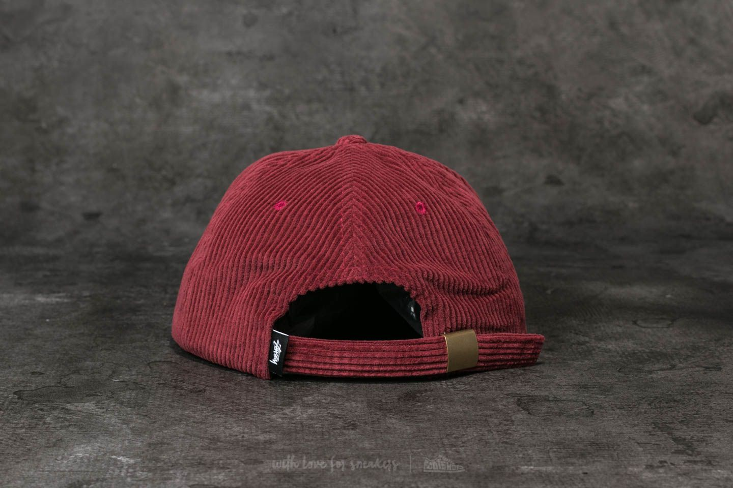 39e4eed637d Stüssy Cord Strapback Cap Burgundy at a great price 23 € buy at Footshop