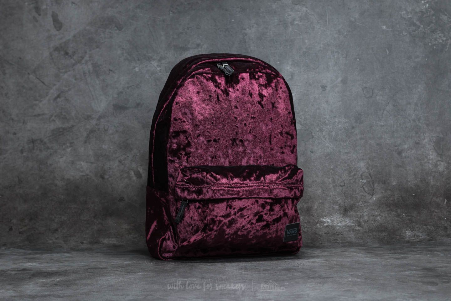 511fb2395e Vans Deana Crushed Velvet Backpack Burgundy