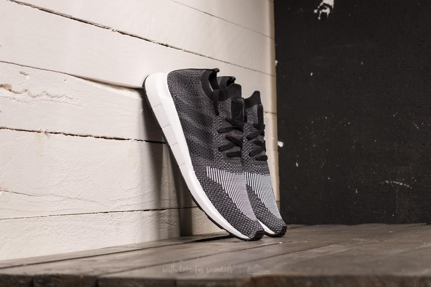 999436ad6 adidas Swift Run Primeknit. Core Black  Grey Five  Medium Grey Heather