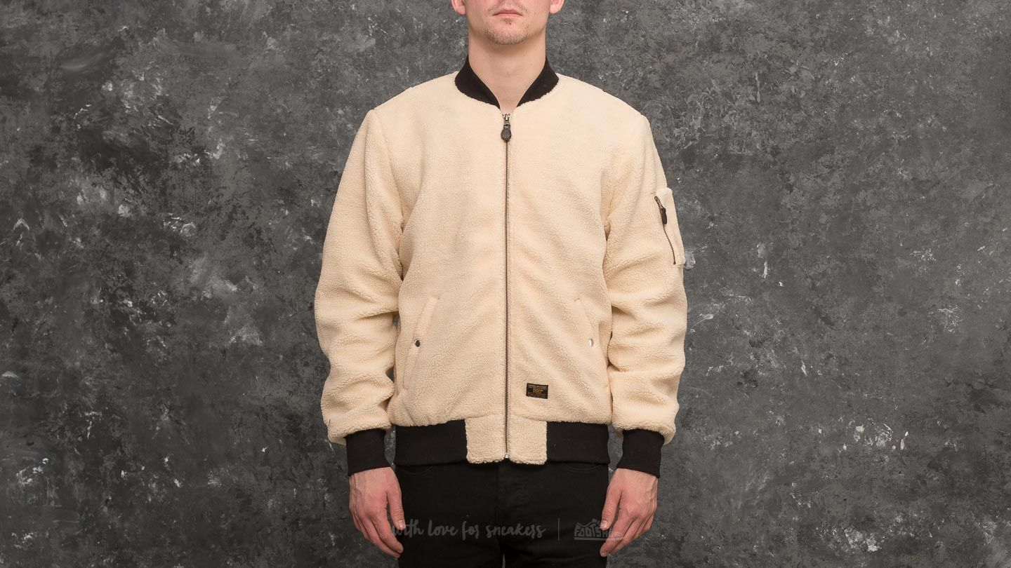 authentic fashion hot sale HUF Sherpa Bomber Jacket Natural   Footshop