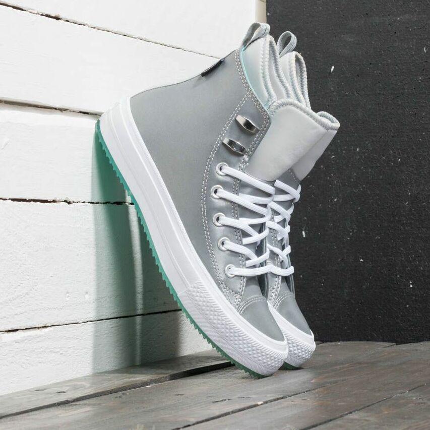 Converse Chuck Taylor All Star Waterproof Boot Hi Pure Platinum/ Light Aqua/ White EUR 40