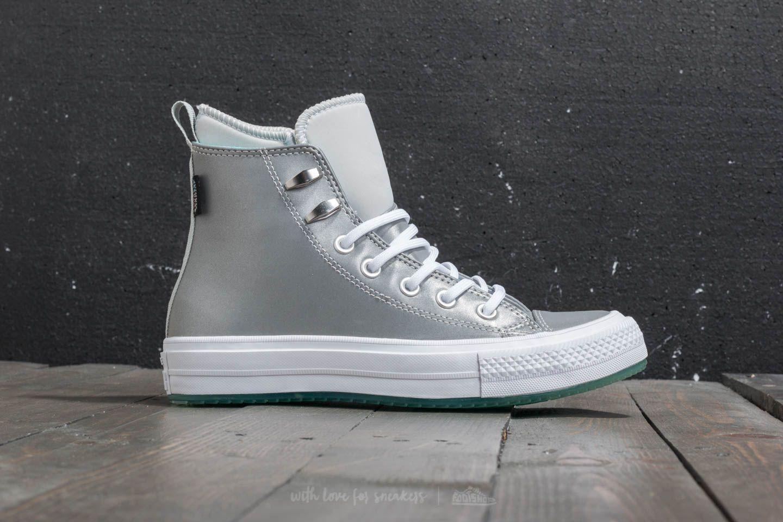aa206b07b28 Converse Chuck Taylor All Star Waterproof Boot Hi Pure Platinum  Light  Aqua  White at
