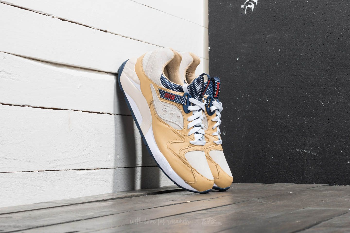 """68f45da40621 Saucony x Sneakersnstuff Grid 9000 """"Business Class"""" White Wheat  Birch at a  great"""