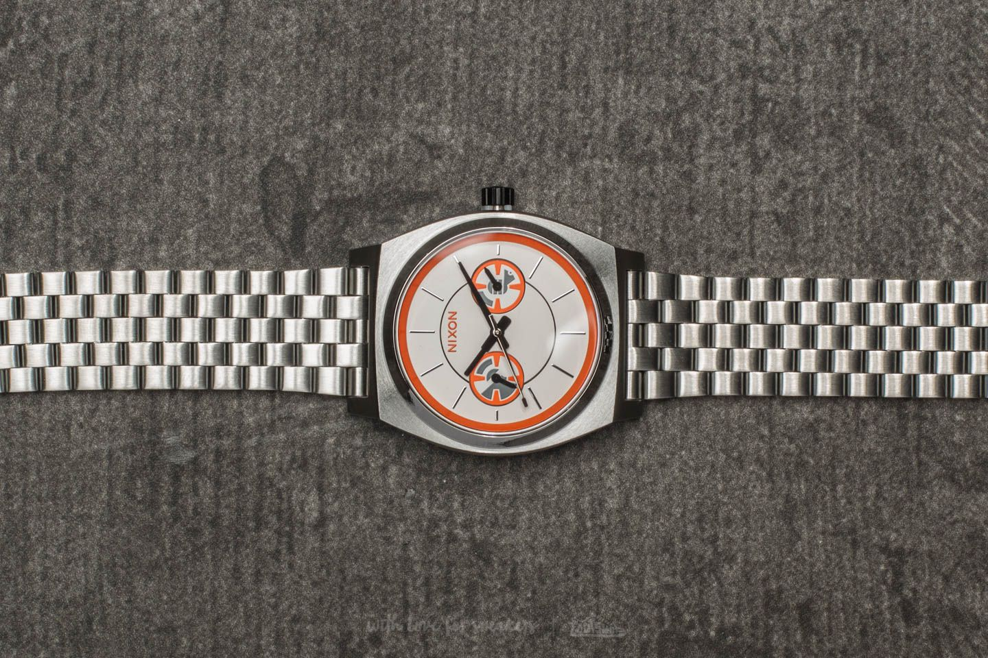 Nixon x Star Wars Time Teller Deluxe BB-8 Silver/ Orange
