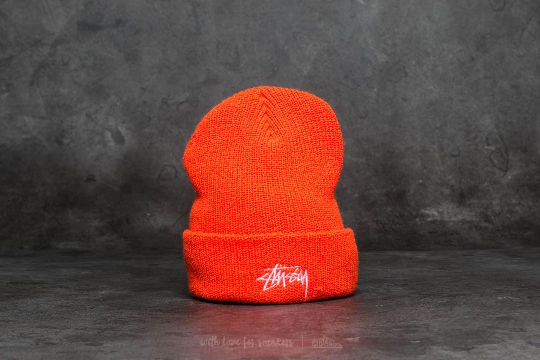 ee4569fb6 Stüssy Stock Ho17 Cuff Beanie Orange | Footshop