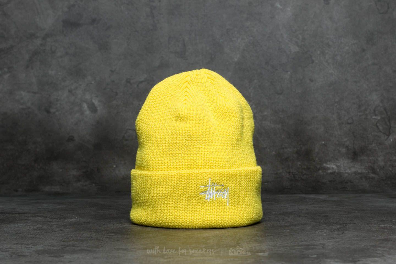 7ca244904a6 Stüssy Basic Cuff Beanie Neon Yellow