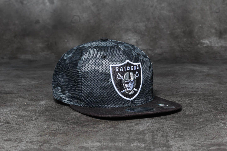 5444cc1b8be New Era 9Fifty NFL Mesh Overlay Oakland Raiders Cap Grey  Black ...