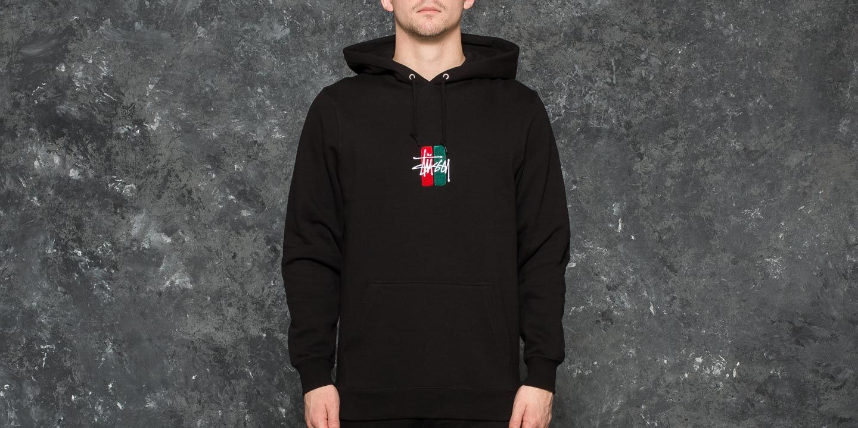 Stüssy Bars Logo Applique Hoodie Black  619d15a07068