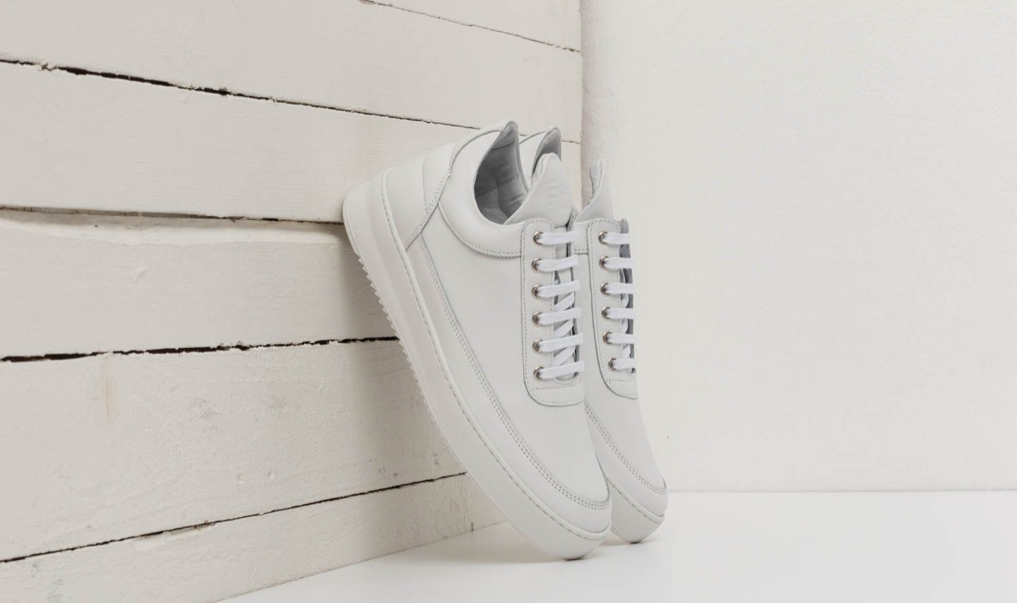 Filling Pieces Low Top Ripple Lane Nappa All White at a great price $172 buy at Footshop