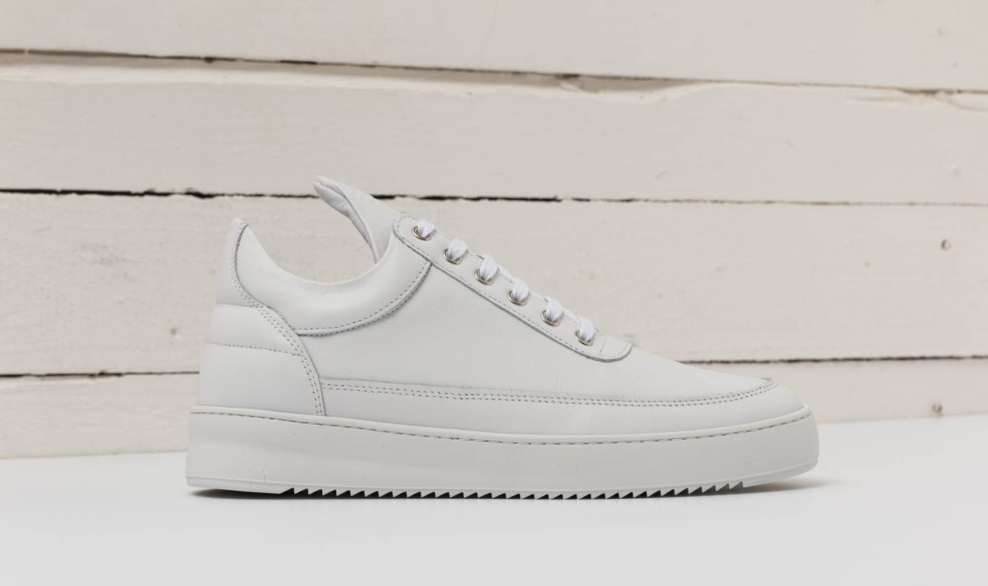 Filling Pieces Low Top Ripple Lane Nappa All White | Footshop