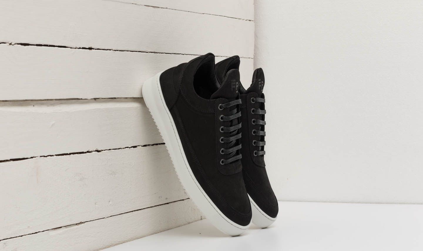 Moški čevlji Filling Pieces Low Top Ripple Basic Black/ White