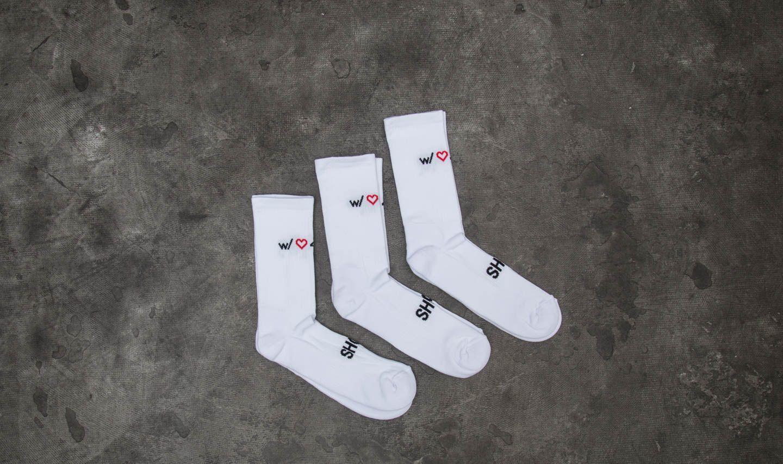 Footshop 3-Pack Socks White za skvělou cenu 270 Kč koupíte na Footshop.cz