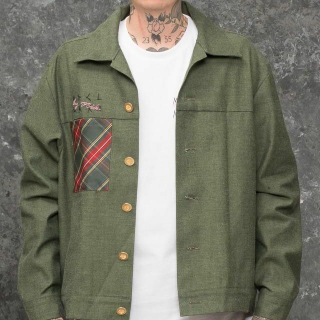 My Dear clothing by Nik Denim Jacket Green