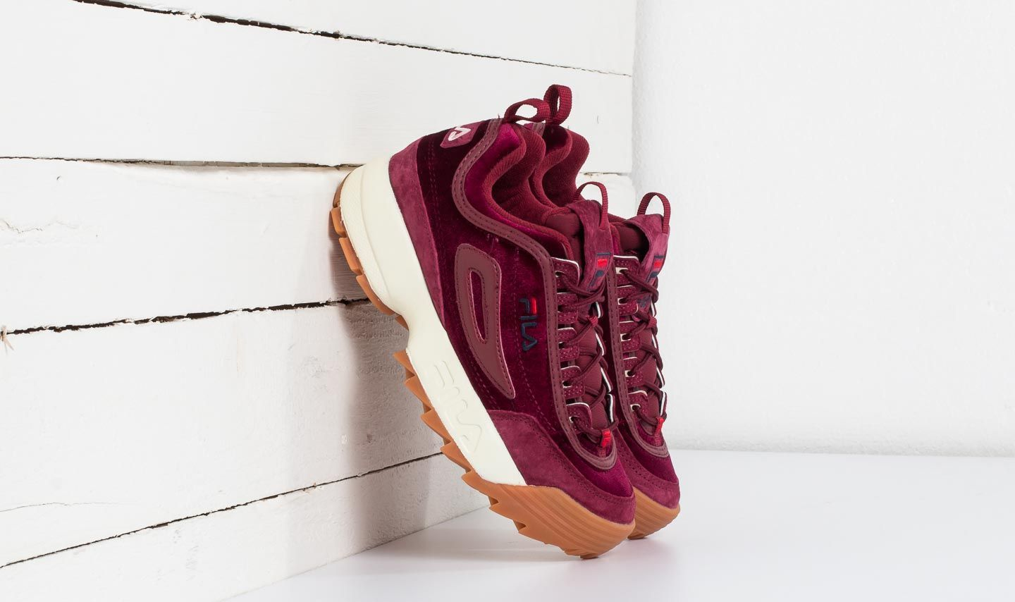FILA Disruptor V Low Wmn Red Velvet  40844ad8df