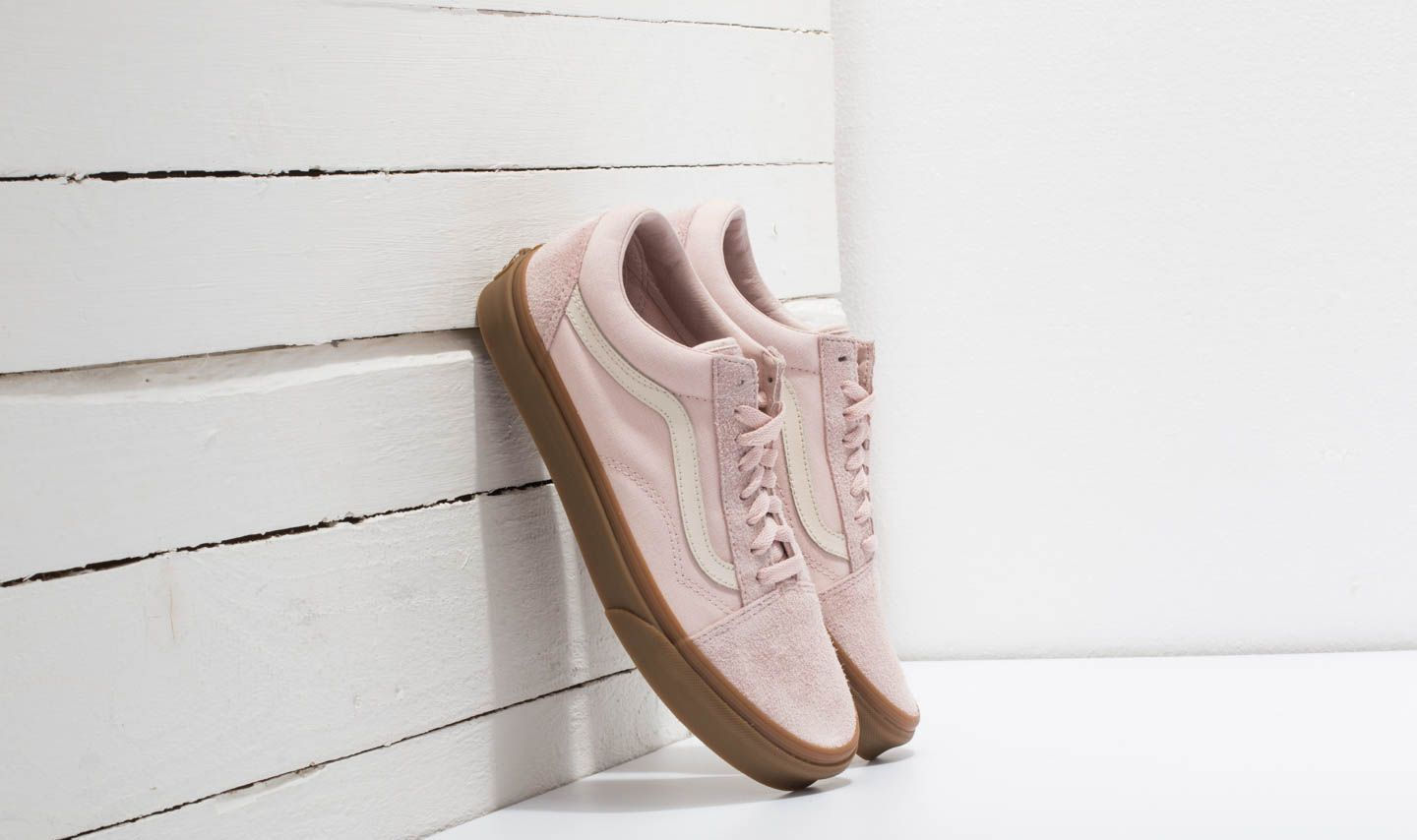 Vans Old Skool (Fuzzy Suede) Sepia Rose  Light Gum  da81136bd
