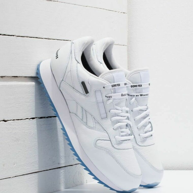 Reebok x Raised by Wolves Classic Leather Ripple Gore-Tex White/ Black-Ice EUR 40