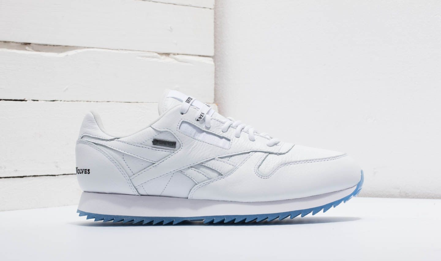 219ac74373c Reebok x Raised by Wolves Classic Leather Ripple Gore-Tex White  Black-Ice