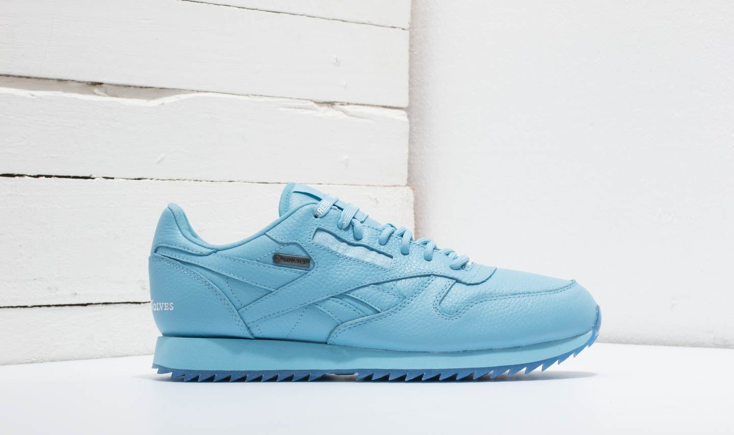 1bd5d9a64de Reebok x Raised by Wolves Classic Leather Ripple Gore-Tex Cape Blue  White-