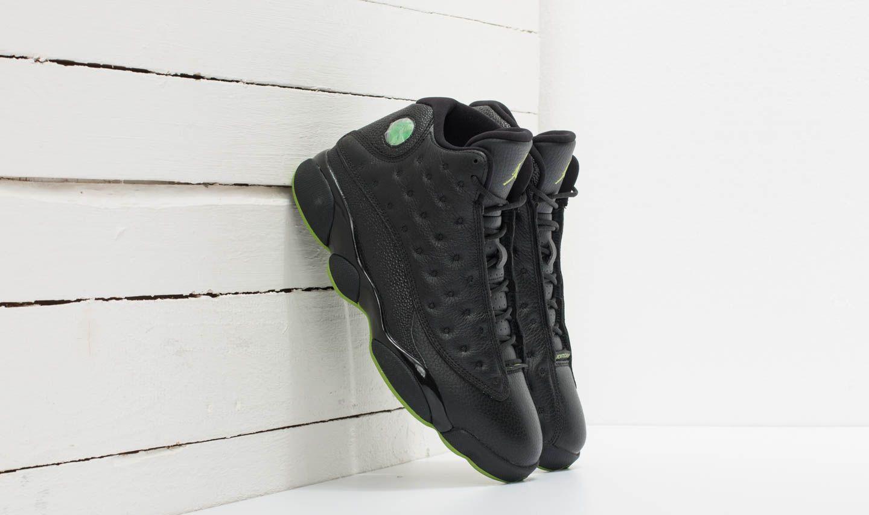 56dc00934c1a Air Jordan 13 Retro Black  Altidude Green