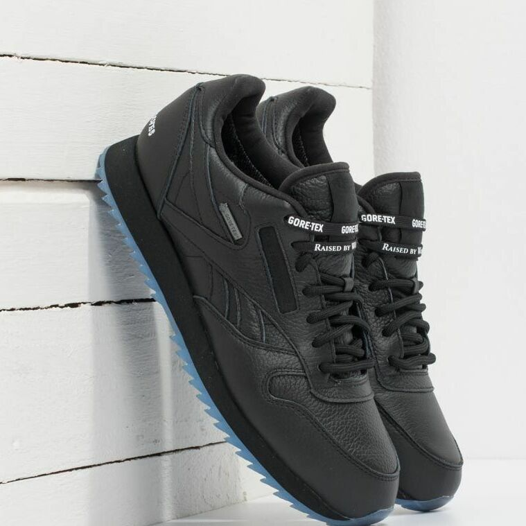 Reebok x Raised by Wolves Classic Leather Ripple Gore-Tex Black/ White-Ice EUR 37.5