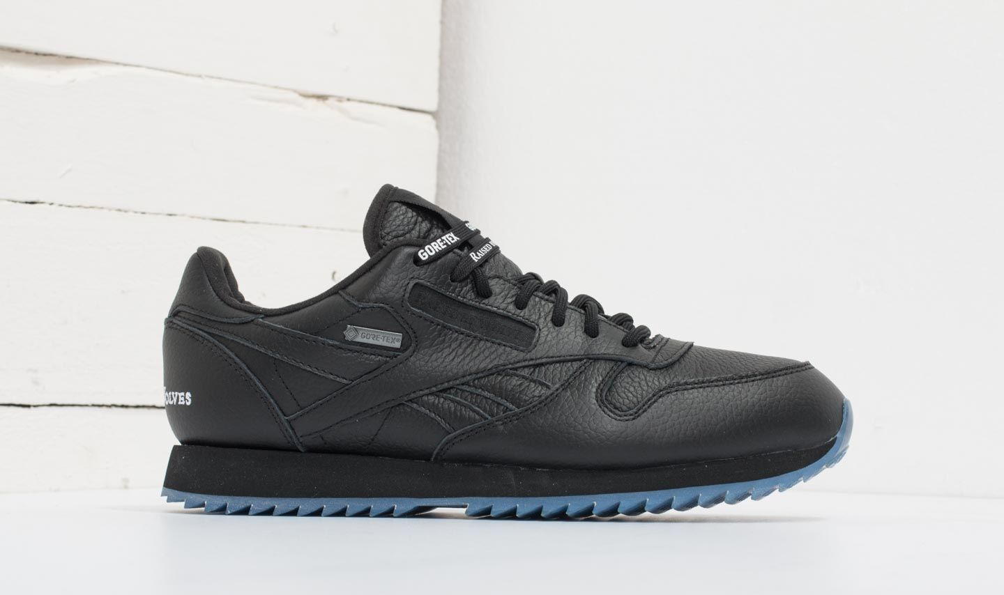 c792bb2162e Reebok x Raised by Wolves Classic Leather Ripple Gore-Tex Black  White-Ice