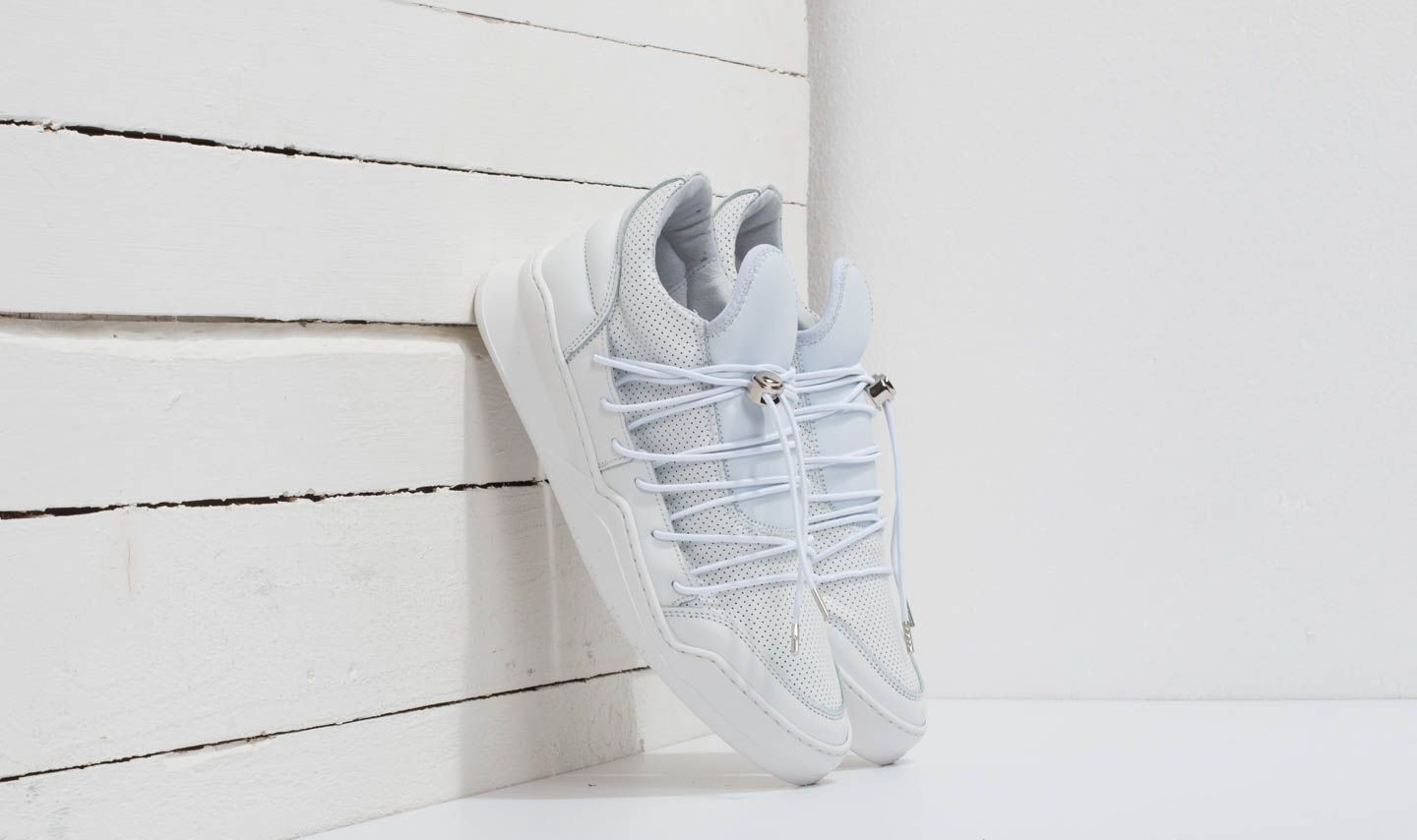Pánské tenisky a boty Filling Pieces Low Top Ghost Lee All White