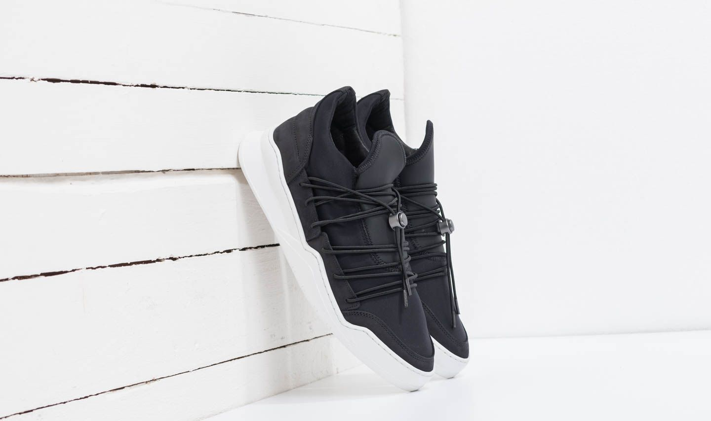 Filling Pieces Low Top Ghost Lee Black