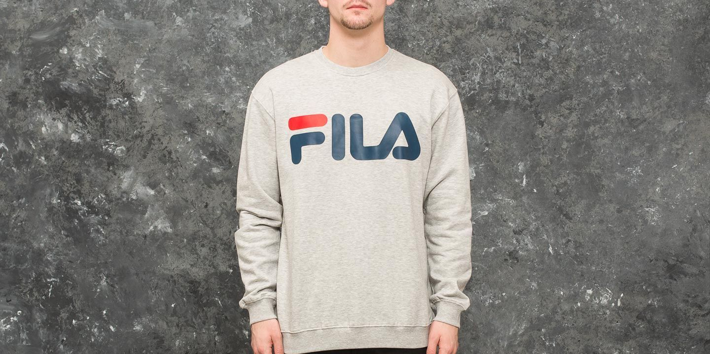 c5d3b59add7b FILA Classic Logo Sweater Light Grey Melange Bros   Footshop