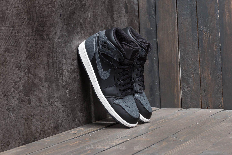 f0d16db073c3 Air Jordan 1 Mid Black  Dark Grey  Summit White