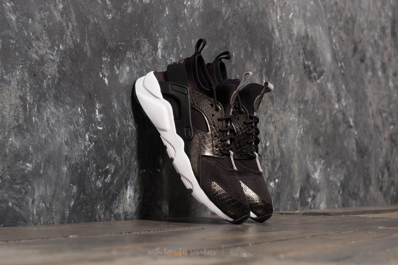 5db6e4681490 Nike Air Huarache Run Ultra GS Black  Metallic Pewter-Black-White ...